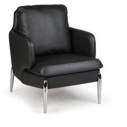 Fotel skórzany LUXOR, czarny