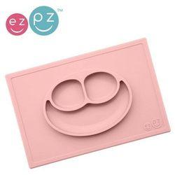 EZPZ - Silikonowy talerzyk z podkładką 2w1 Happy Mat - pastelowy róż