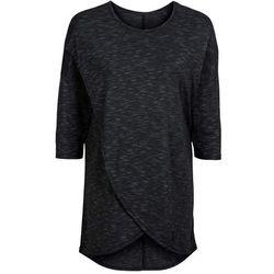 Shirt 2 w 1 z baskinką, krótki rękaw bonprix ciemnoniebieski