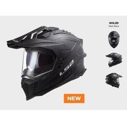 KASK MOTOCYKLOWY ENDURO OFF ROAD KASK LS2 MX701 EXPLORER SOLID MATT BLACK nowość 2021 roku