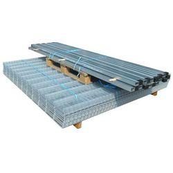 vidaXL Panele ogrodzeniowe 2D z słupkami - 2008x830 mm 28 m Srebrne Darmowa wysyłka i zwroty