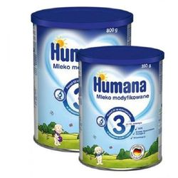 Humana 3 mleko modyfikowane po 12 miesiącu życia 800g + GRATIS 350g