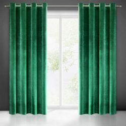 Zasłona welwetowa 140x250 Eurofirany Samanta ciemno zielona