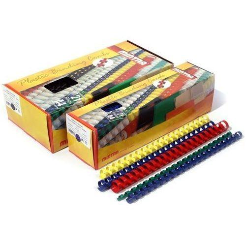 Grzbiety do bindownic, Grzbiety plastikowe do bindowania 12,5mm, 100szt.