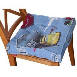 Dekoria Siedzisko Kuba na krzesło, samochody na niebieskim tle, 50x50x10cm, Freestyle do -30%