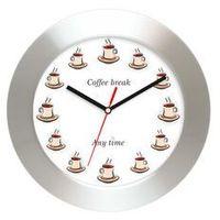 Zegary, Aluminiowy zegar ścienny Czas na kawę