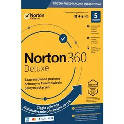 NORTON 360 DELUXE 5 PC 1 ROK