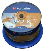 Płyty CD, DVD, Blu-ray, Płyty DVD-R 4,7GB 16X Verbatim Cake 50 50 sztuk