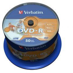 Płyty DVD-R 4,7GB 16X Verbatim Cake 50 50 sztuk