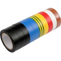 Taśma izolacyjna pvc 19mm x 20m, mix, kpl. 10szt / 75028 / VOREL - ZYSKAJ RABAT 30 ZŁ