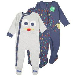 mothercare BOYS MONSTERS HANGING SLEEPSUITS BABY 3 PACK Piżama brights multi
