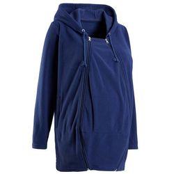 Bluza z polaru ciążowa, z wstawką niemowlęcą bonprix kobaltowy