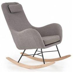 Tapicerowany popielaty fotel na biegunach - Singa