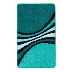 Dywaniki łazienkowe w paski bonprix niebieskozielony morski