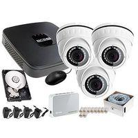 Zestawy monitoringowe, Rejestrator IP BCS BCS-NVR04015ME + 3x Kamera FullHD LV-IP2M2DFWH-II, 1TB + Akcesoria