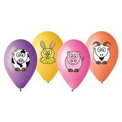 Balony pastelowe mix kolorów Przyjaciele z farmy - 30 cm - 4 szt.