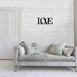 Dekoracja metalowa, obraz ścienny, ozdoba na ścianę, nie naklejka, napis, LOVE miłość prezent