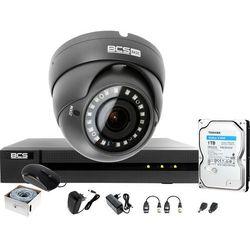 Monitoring po skrętce BCS Basic Full HD 2MPx 1TB H265+ 1 x Kamera kopułkowa 2.8-12mm IR 40m