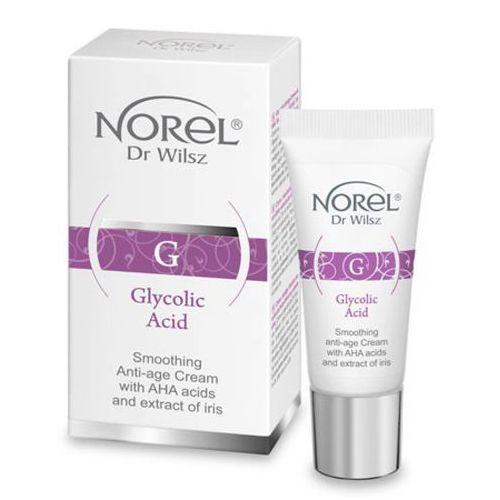 Pozostała pielęgnacja, Norel (Dr Wilsz) GLYCOLIC ACID Krem wygładzający anti-age z kwasami AHA i ekstraktem z irysa (DS505)