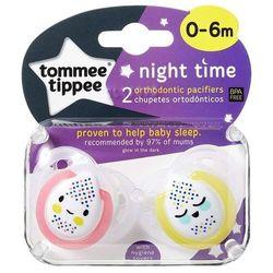 Tommee Tippee Smoczek Uspokajający Ortodontyczny Night Time 0-6m 2 szt.