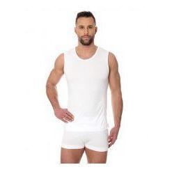 Bezszwowa koszulka męska Brubeck Comfort Cotton SL00068 biały