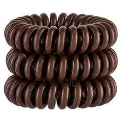 Invisibobble Power Hair Ring gumka do włosów 3 szt dla kobiet Pretzel Brown
