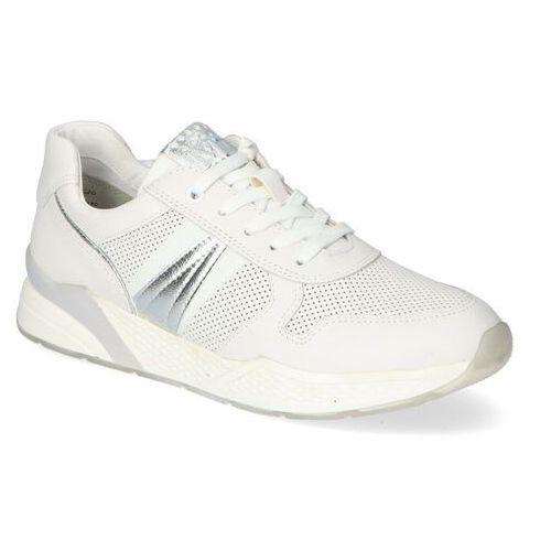 Damskie obuwie sportowe, Sneakersy Marco Tozzi 2-23731-26 Białe lico