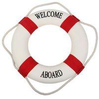 Kamizelki i pasy ratunkowe, Koło ratunkowe czerwone pasy, dekoracja Life buoy red, L 35 cm