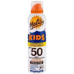 Malibu Kids Continuous Lotion Spray SPF50 preparat do opalania ciała 175 ml dla dzieci