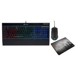 Klawiatura przewodowa CORSAIR K55 RGB + mysz M55 RGB Pro + podkładka MM300 CH-9226415-NA