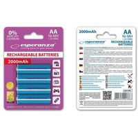 Akumulatorki, Esperanza 2000mAh 4 szt. AA Niebieskie (EZA104B) Darmowy odbiór w 19 miastach!