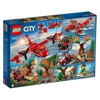 Klocki dla dzieci, LEGO City 60217 Samolot strażacki