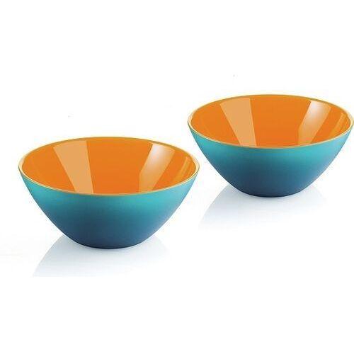 Misy i miski, Guzzini - My Fusion - kpl. 2 miseczek,niebiesko - pomarańczowe - niebieski   pomarańczowy