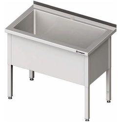 Stół z basenem jednokomorowym 1000x600x850 mm | STALGAST, 981366100