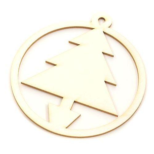 Ozdoby świąteczne, Zawieszka 7 cm - choinka klasyczna - CHO2