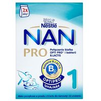 Mleka modyfikowane, Mleko Nan Pro 1 od urodzenia prosz. - 800 g (2 x 400)
