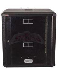 """Szafa rack wisząca 19"""" 21Ux600x600 IP30 Ściany boczne otwierane Drzwi z szybą RAL 9005 czarny SIDE-O19-21U-60-DS-C"""