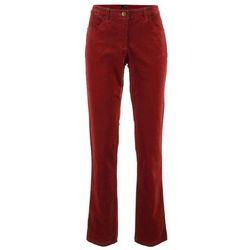 Spodnie sztruksowe ze stretchem bonprix czerwony kasztanowy