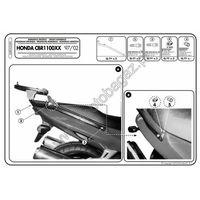 Stelaże motocyklowe, Stelaż pod kufer centralny do Honda CBR1100XX [97-08] - Givi 248F (zgodny z Kappa K2480)