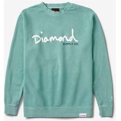 bluza DIAMOND - Og Script Pigment Overdye Crewneck Mint (MINT) rozmiar: 2X
