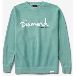 bluza DIAMOND - Og Script Pigment Overdye Crewneck Mint (MINT) rozmiar: XL