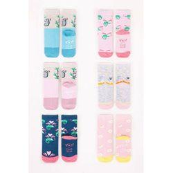 Skarpety dziewczęce bawełniane 6PAK pastelowe kolory 17-19
