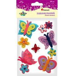 Naklejki filcowe 307543 Motyle i kwiaty - Titanum