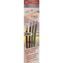 Ołówek grafitowy z gumką 2B wygibas 12 sztuk. Darmowy odbiór w niemal 100 księgarniach!