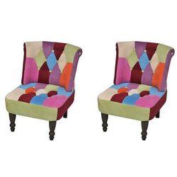 vidaXL Fotele francuskie patchworkowe bez podłokietników, 2 szt. Darmowa wysyłka i zwroty