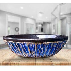 BLUE LAGON - nablatowa umywalka artystyczna ręcznie wykończona rabat 40%