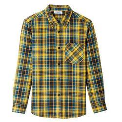 Koszula z długim rękawem w kratę bonprix szafranowo-niebieski w kratę