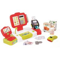 Sklepy i kasy dla dzieci, Smoby Elektroniczna kasa fiskalna XL, kolor czerwony