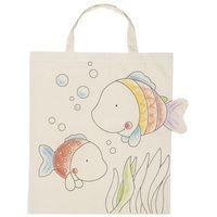 Kreatywne dla dzieci, Bawełniana torba do kolorowania - Rybki