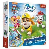 Gry dla dzieci, 2w1 Chińczyk Psi wyścig Psi Patrol TREFL